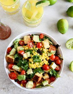 black bean + cornbread panzanella salad.