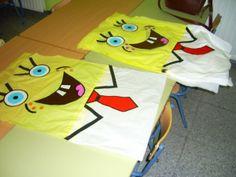 Lee el artículo: Carnaval 2012: Disfraces con bolsas de basura [FOTOS] Difraces con bolsas de basura: ideas para bob Esponja Á...
