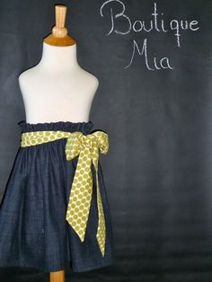"""●This listing is for ONE """"Skirt and Sash""""●            [ INTRODUCTION ]  Sweet, simple and fun Skirt with removable Sash. Can be worn as a belt or"""