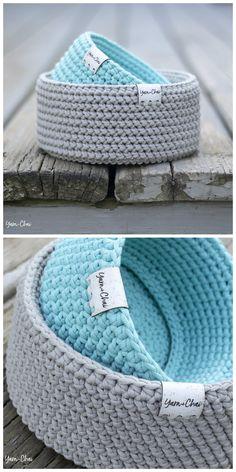 Love Crochet, Crochet Yarn, Crochet Toys, Crochet Baskets, Crochet Home Decor, Crochet Stitches Patterns, Loom Knitting, Handmade Accessories, Lana