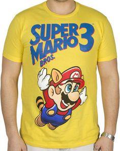 Super Mario Bros 3 Mens Shirt by 80stees