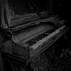 nothing creepier than old pianos