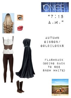"""""""OUAT - S1E10: """"7:15 A.M."""" - Autumn Gibson/Goldilocks"""" by nerdbucket ❤ liked on Polyvore featuring Estradeur, WigYouUp, Red Herring, Blue Nile, Charles David and Charlotte Tilbury"""