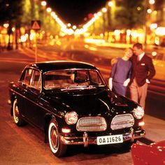 Volvo Amazon. Looks like a late '60s model. And it's got to be a coupe or sedan. Never the station wagon.