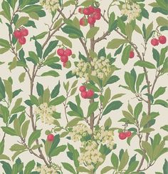 Strawberry Tree  Scarlet & Ivory wallpaper by Cole & Son