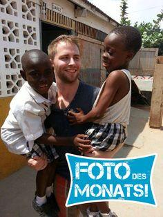 Foto des Monats August 2014! Kristian war in #Suedafrika und #Ghana mit uns unterwegs. In seinem #Sozialarbeitsprojekt in Ghana ist dieses super Foto entstanden!