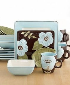square dinnerware sets | Laurie Gates Madison 20-Piece Square Dinnerware Set review | buy  sc 1 st  Pinterest & Laurie Gates Petra 16Piece Dinnerware Set #Dillards | Home Decor ...