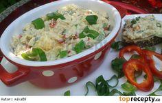 Pomazánka z pečeného kuřete Czech Recipes, Ethnic Recipes, Snack Recipes, Snacks, Pesto, Poultry, Potato Salad, Mashed Potatoes, Chicken