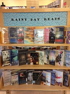 September display -- Rainy day reads