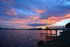 Magnifica puesta de sol desde el embarcadero