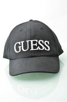 c410b76f308 Guess Black Hat Men s Baseball Hats NWT Trucker Cap 100% Cotton Visor Caps  OSFA