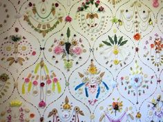 adam parker smith wallpaper installation - Made with candy, cookies, costume jewelry, flowers, fruit, etc
