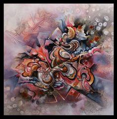 ribbons abstract painting by Amytea.deviantart.com on @DeviantArt