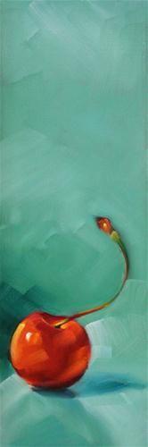 """Another Cherry"" - Original Fine Art for Sale - © Cheryl Wilson"
