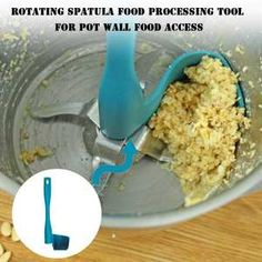 Rotary Scraper for Thermomix, Removing, Scooping & Portioning Food Processor Kitchen Accessories Tool - Billy Silly Online Store Kitchen Tools, Kitchen Gadgets, Kitchen Dining, Smart Kitchen, Kitchen Appliances, Cyan, Food Waste, Rotary, Food Grade