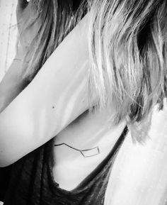 Constellation tattoo black ink ursa minor placement