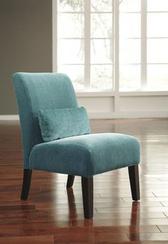 Lowest price on Signature Design by Ashley Annora Teal Accent Chair Shop today! Wooden Dining Room Chairs, Old Chairs, Modern Dining Chairs, Living Room Chairs, Nursery Chairs, Pink Chairs, White Chairs, Wingback Accent Chair, Teal Accent Chair