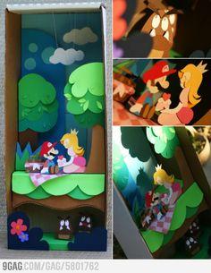 Amazing Paper Mario Paper Art