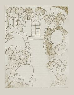 Ithaque (one of six etchings illustrating James Joyce's Ulysses) 1935, Henri Matisse (SFMOMA)