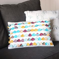 With a few leftover fabric scraps and basic sewing skills, you can make your own tassel pillow.