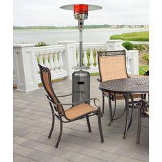 7 Ft. Steel Umbrella Propane Patio Heater in Stainless Steel - HAN003SS