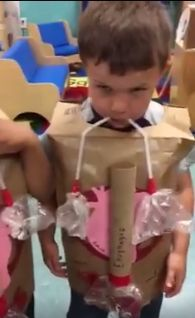 Preschoolers, learning about the body made paper hearts, lungs from plastic bags and straws, oesophagus and stomach from a cardboard tube and plastic bag. Would make a great kindy STEM idea. This activity was done at ABC Child Development Center