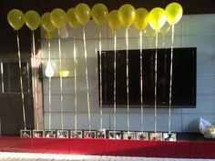 Photo Balloons at Yellow/Grey Bridal Shower
