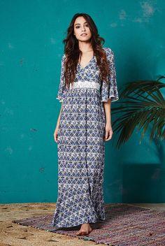 Valley of the Dolls San Jose Lace Trim Maxi Dress - JOY website
