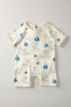 SoftBaby Short Sleeve Romper.
