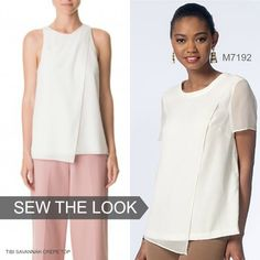 Sew the Look: We love this inspo top from Tibi. Make your version with McCall's M7192 top/tunic pattern.