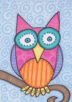 'Whimsical Owl' by Beth Belmondo