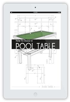 How to build a pool or billiards table - Plans to build your own pool table Used Pool Tables, Diy Pool Table, Pool Table Felt, Pool Table Games, Custom Pool Tables, Pool Table Room, Diy Table, Billiard Pool Table, Billiards Pool