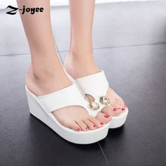 9c883f628f8254 ... directly from China ladies flip flops Suppliers  Women Sandals 2017 New  Fashion Beaded Ladies Flip Flops Summer Shoes High Heel Wedge Sandals  Slippers ...
