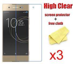 3pcs/Lot Front Film For Sony Xperia XA1 Ultra XZ Premium XZs,Clear Transparent Screen Protector Guard
