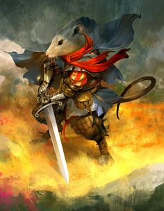 Martin the Warrior from the Redwall series of books Fantasy Character Design, Character Concept, Character Inspiration, Character Art, Concept Art, High Fantasy, Fantasy Rpg, Medieval Fantasy, Fantasy Artwork