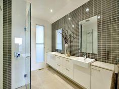 Modern bathroom design with twin basins using ceramic - Bathroom Photo 129177
