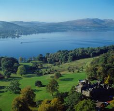 A broader view of Scotland's Loch Lomond, with Balloch Castle in the foreground. (From: Photos: 12 Most Beautiful Lakes )