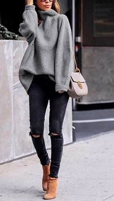 45 Perfecte winteroutfits voor inspiratie / 005 - Pullover - 45 Perfect winter outfits for inspiration / 005 - Pullover - outfits ideas Cozy Winter Outfits, Winter Fashion Outfits, Look Fashion, Autumn Fashion, Womens Fashion, Winter Wear, Winter Clothes, Ladies Fashion, Fashion Clothes