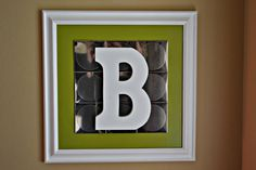 DIY letter art for wall. Great for spring decorating!