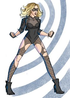 Some Annie Wu-inspired style for Black Canary Laurel!!! Whatever I think of the new 52, rockstar!BC is too fun ;P by samspurpletoothbrush on tumblr