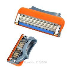 Venta caliente 4 Unids/set Alta Calidad Portátil Sistema 5-Blade Sacapuntas de Afeitar Cuchillas de afeitar para Hombres