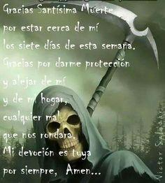 Imagenes De La Santa Muerte Con Frases Chidas 9 Mi Santa
