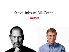 steve-jobs-vs-bill-gates-22087917 by SeoCustomer.com via Slideshare