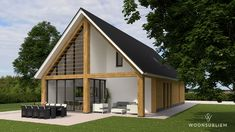 Schuurwoning in Heesch - WoonSubliem Tiny House Cabin, Cabin Homes, Bungalow Homes, Build Your Own House, A Frame House, Next At Home, Future House, Building A House, House Plans