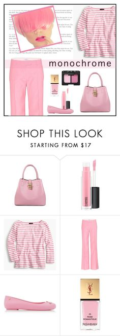 """""""Pinker"""" by patricia-dimmick on Polyvore featuring MAC Cosmetics, J.Crew, Valentino, Melissa, Yves Saint Laurent, NARS Cosmetics and monochromepink"""