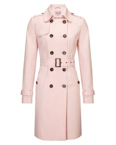 This gorgeously feminine pink trench coat from Phase Eight is tailored to the figure. The perfect transitional coat. A star pick.