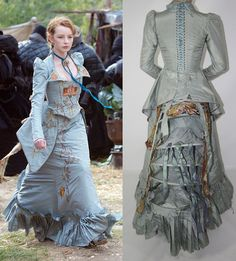 Maria's blue gown from The Secret of Moonacre. Costume design by Beatrix Aruna Pastzor