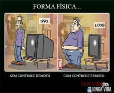 Controle remoto da obesidade... http://sarcasmolongavida.blogspot.com/2014/05/controle-remoto-da-obesidade.html #humor #sarcasmo #magro #gordo #emforma #máforma #controleremoto #televisão #TV #formafisica #obeso