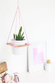 A Bubbly Life: DIY Hanging Copper Planter