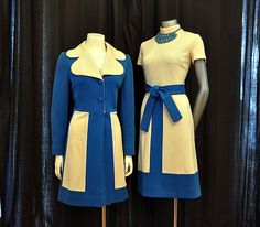 I love this so much.   Lilli Ann Mod  Dress and Jacket Set Coat Dress. $298.00, via Etsy.